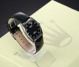 Rolex 'Cellini Danaos'. Men's watch, 18 kt. white gold, with black dial, c. 1998