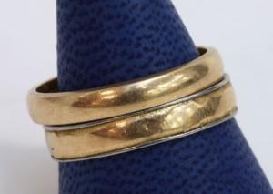 Ringar, 2 st, 18K guld. Vikt ca 10 gr. 2
