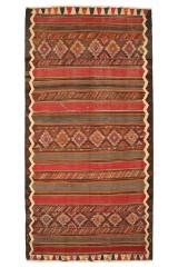 Persisk Shahsavan Kelim, 405 x 200 cm.