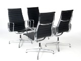 Charles Eames. Four conference chairs, model EA-109. Full leather (4)