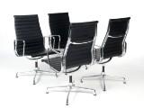 Charles Eames. Fire konferencestole, model EA-109. Full leather (4)
