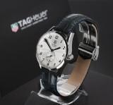 Tag Heuer 'Carrera Heritage'. Men's watch, steel with date, certificate 2014