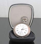 Chronos Silver pocket watch with box