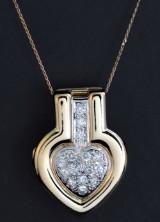 Heartshaped diamond pendant approx 1.50 ct