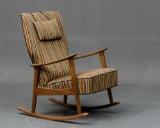Dansk møbelproducent, gyngestol i bøg, 1950/60'erne