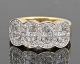 Diamond ring in 18kt approx. 1.39ct