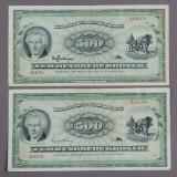 Danmark. 500 kr. 'Plovmand' 1963 og 1967 - Sieg 138, DOP 147, Pick 47 (2)