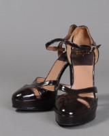 Laurence Dacade Paris. Stiletter, brun lak / patent leather, str. 38.