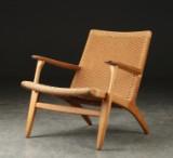 Hans J. Wegner. Lounge chair, oak, model CH-25