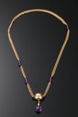 Halskæde, kuglelås, nøglevedhæng i 18 kt guld. Ole Lynggaard (3)