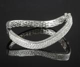 Brilliant-cut diamond bracelet, white gold, approx. 3.58 ct.