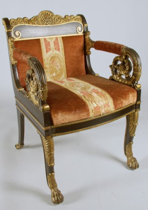m bel armstuhl empire russland 1830 40er jahre diese ware steht erneut zur. Black Bedroom Furniture Sets. Home Design Ideas