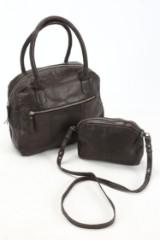 Mory. Håndtaske samt skuldertaske i sort læder (2)