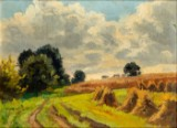Alfred Zoff, Landschaft mit Kornhocken