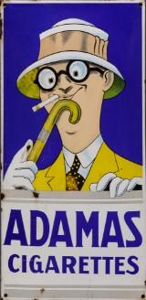 Adamas Cigarettes. Enamel sign