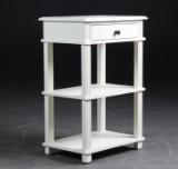 Afsætningsbord / Lampebord, hvidbemalet træ, model Fayence