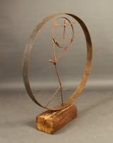 Andrzej Danielski, skulptur, 'Figur im Rad'