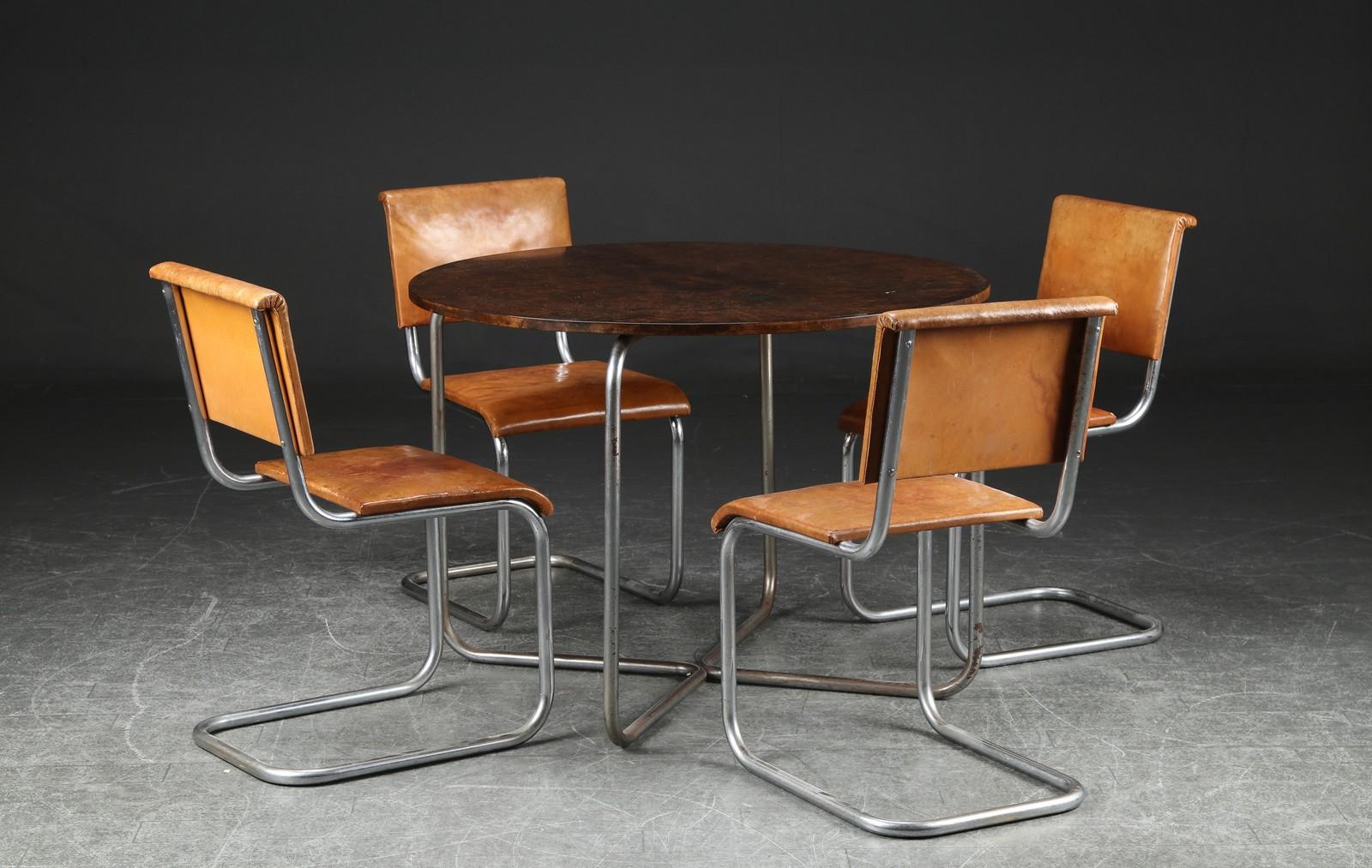 Auktionstipset - Art decó/funkis frisvinger stole med bord, 1930 ...