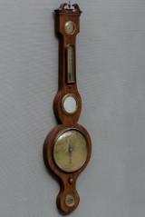Engelsk banjobarometer af mahogni 1800 tallet