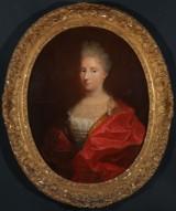 Charles-Antoine Coypel, zugeschrieben. Französisches Porträt einer Adelsdame, um 1730