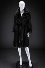 Black mink coat, size 40. Labelled Birger Christensen