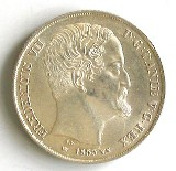Fr. 7. 2 Rigsdaler 1855 VS