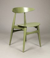 Hans J. Wegner for Carl Hansen & Søn. Stol model CH-33T, Olive Green