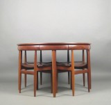 Hans Olsen, a dining table with chairs, model 630/31 for Frem Rojle