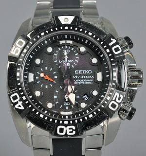 3fbd6716f8c Seiko Velatura Chronograph Divers 200 m herreur i stål. Denne vare er sat  til omsalg