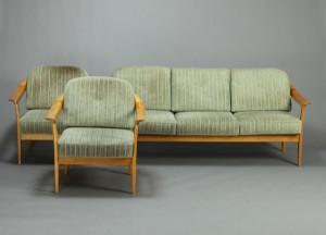 Sofa Samt wilhelm knoll tre pers sofa samt par hvilestole 3 lauritz com