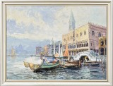 G. W. Hill, olie på lærred, parti fra Venedig