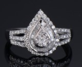 Diamond ring 18 kt. white gold, approx. 0.47 ct.