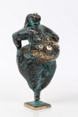 Henrik Fischer. 'Stolthed'. Unika skulptur i bronze, H. 25 cm