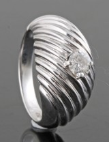 Diamond ring in 18kt approx. 0.30ct