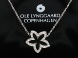 Ole Lynggaard. 'Anemone' necklace, 18 kt. white gold with diamonds