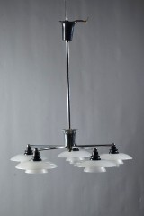 Poul Henningsen. The Cup chandelier with five arms