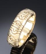 Bvlgari. 'Parentesi', wide 18 kt. gold bangle, c. 2000, approx. 140.8 grams