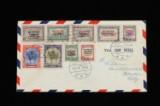 Grønland, sjældent brev med afa 17-25 stemplet 9-4-1946. Afa 20.000.