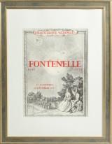 Plakat 'Fontenelle 1657-1757, Bibliothèque Nationale', 1957. Lithographie.