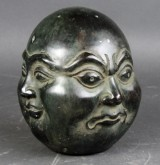 Buddha hoved i bronze
