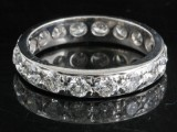18kt diamant evighed ring Ca. 2.00ct <br>