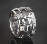 Brilliant-cut diamond ring approx. 0.98 ct., white gold