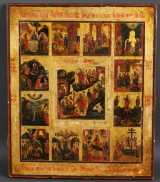 A large Russian feastday icon