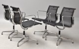 Charles Eames. A set of four chairs with mesh, model 108 (4)