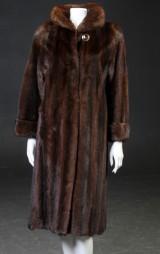 Saga scanbrown mink swing coat, size 36-38