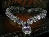 Amayani kunzite necklace, Sterling silver