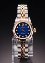 Rolex Oyster Perpetual Customized damearmbåndsur med diamanter Denne vare er sat til omsalg under nyt varenummer 2929367