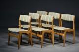 Nova møbelfabrik, 6 stole af eg / uld (6)