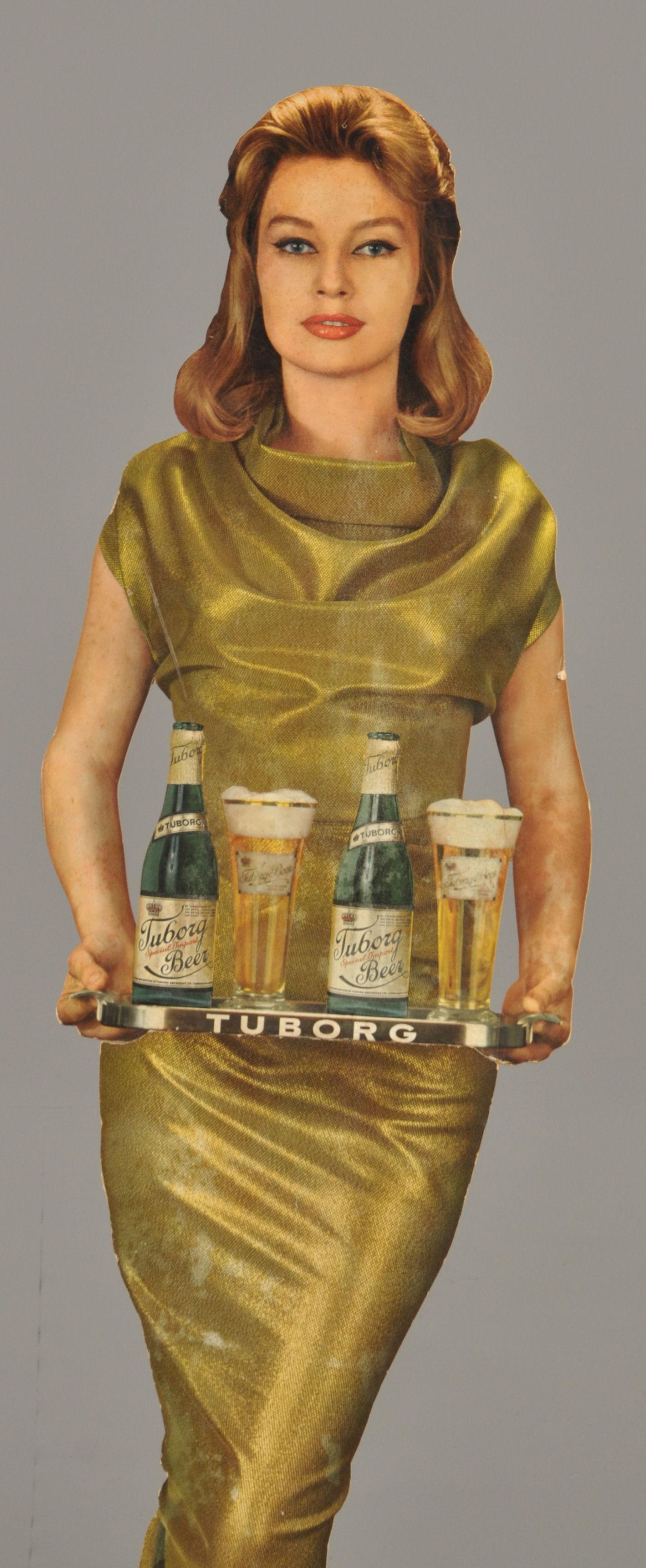Guld Tuborg reklame med Annette Strøyberg. |