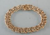 Bismark armbånd af 14 kt. guld, vægt ca. 37 gr